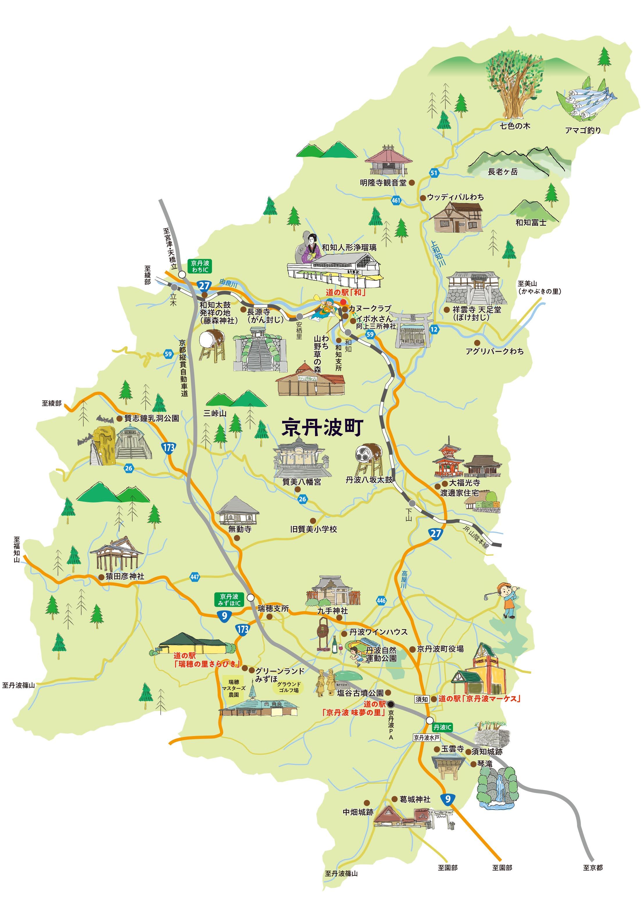 京丹波エリア地図